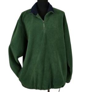 Izod mens large green fleece half quarter pullover